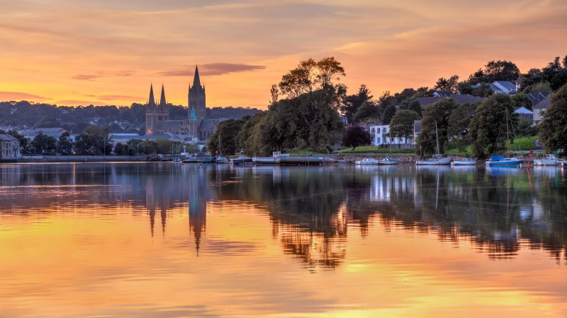 Beautiful view of Truro from the river
